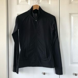 4/$25 Tuff Athletics Black Zip Up Jacket Small